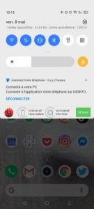 The Realme X50 Pro notification screen