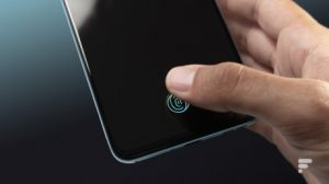 The fingerprint reader in the screen of the OnePlus Nord
