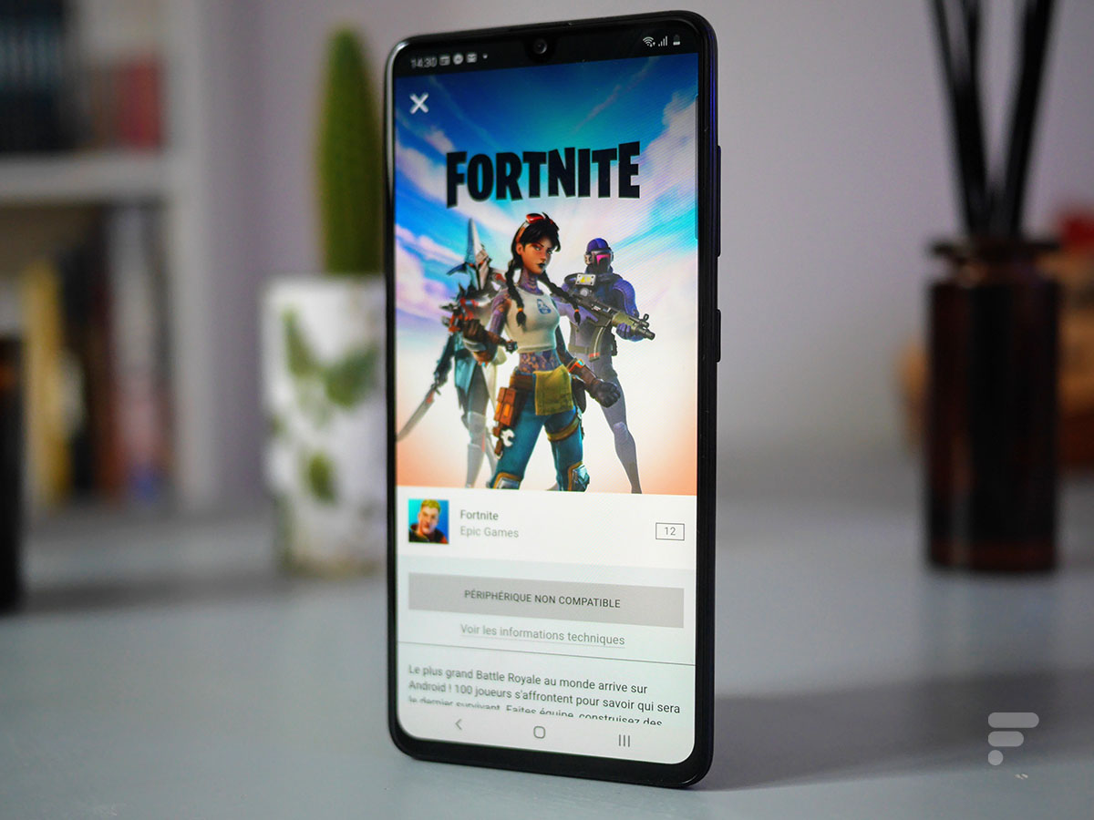 Fortnite does not launch on the Samsung Galaxy A41