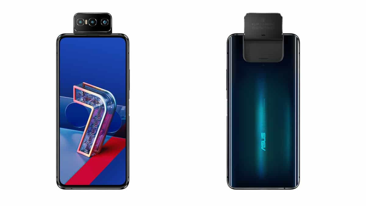 The Zenfone 7 is equipped with a triple rotating photo module // Source: Asus