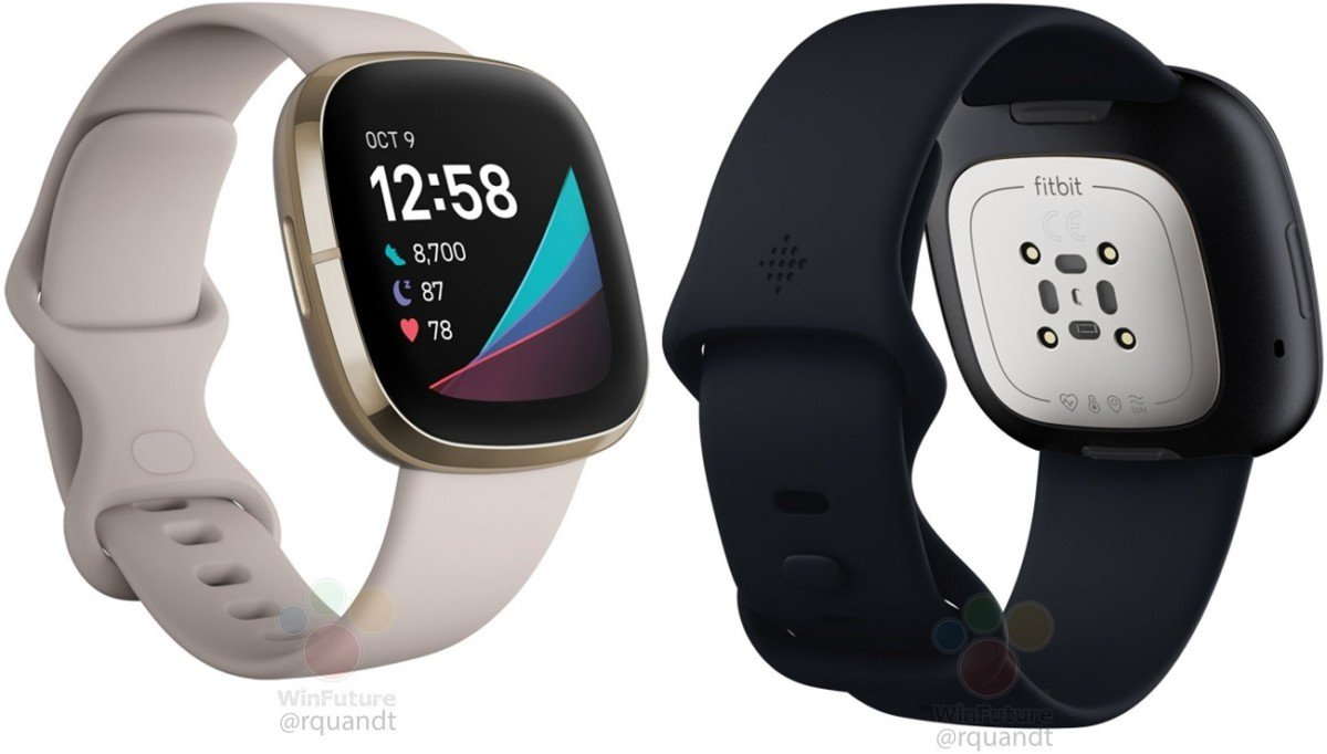 The future Fitbit Sense connected watch // Source: WinFuture