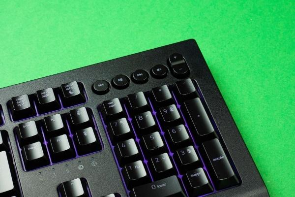 The keyboard has multimedia shortcuts