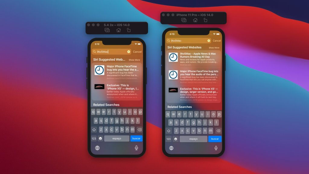 Preview iOS 14 on a 5.4 inch iPhone // Source: 9to5mac