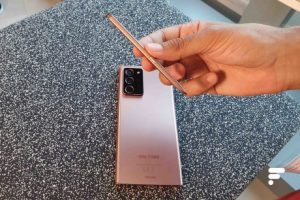 The S Pen stylus is the same color as the smartphone on the Galaxy Note 20 and Note 20 Ultra