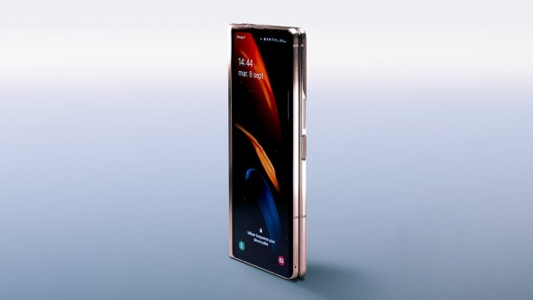 The folded Samsung Galaxy Z Fold 2