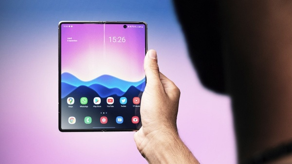 The large internal screen of the Samsung Galaxy Z Fold 2