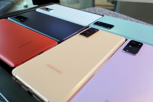 Six colors for the Samsung Galaxy S20 FE
