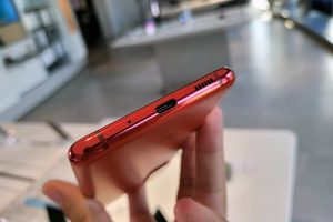 The USB-C port of the Samsung Galaxy S20 FE