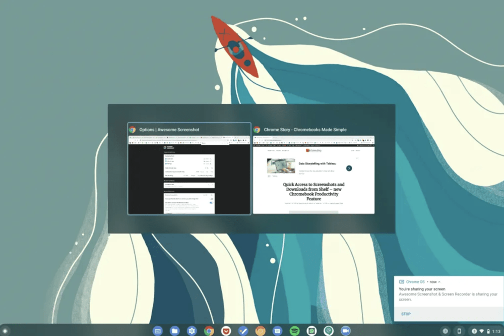 Chrome OS Expose: more interactions soon...