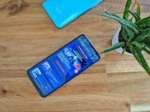 The OnePlus Nord N10 is relatively imposing