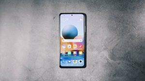 The front of the Xiaomi Redmi Note 10 Pro
