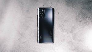 The back of the Xiaomi Redmi Note 10 Pro